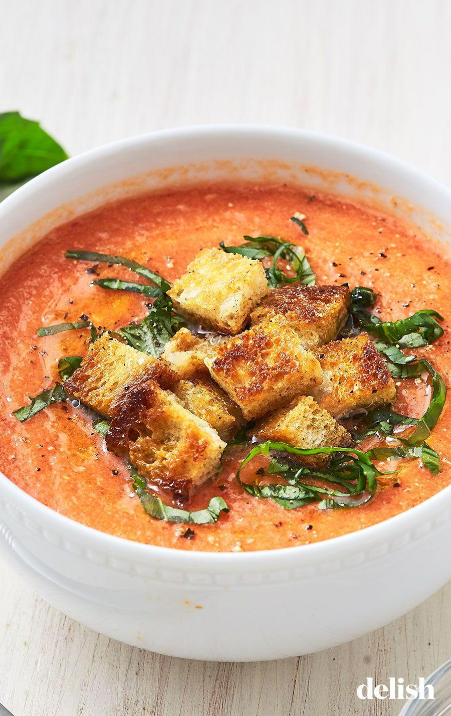 "<p>Is it, uh, bad form to chug it straight from the bowl? Cause this gazpacho <em>that</em> good.</p><p>Get the recipe from <a href=""https://www.delish.com/cooking/recipe-ideas/a27794655/easy-gazpacho-soup-recipe/"" rel=""nofollow noopener"" target=""_blank"" data-ylk=""slk:Delish"" class=""link rapid-noclick-resp"">Delish</a>.</p>"