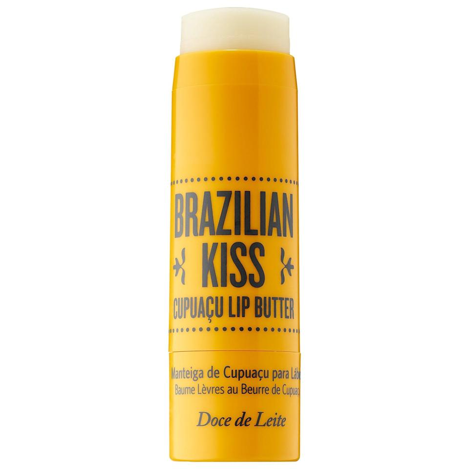 <p>Even if you don't want to constantly reapply balm under your protective mask, this <span>Sol de Janeiro Brazilian Kiss Cupuaçu Lip Butter</span> ($18) can serve as an impromptu overnight lip mask with a bonus coconut aroma (from moisturizing coconut oil) as a nice summery touch.</p>