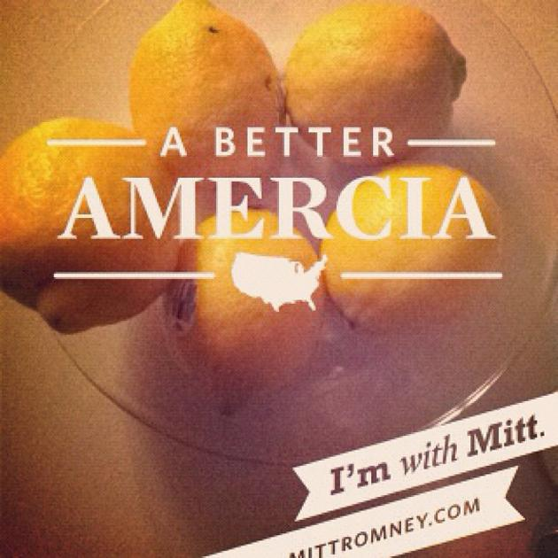 "A Better Amercia   The Romney campaign released its first campaign app--an Instagram-esque photo app allowing users to overlay their photos with pro-Romney campaign slogans--in May. But excitement quickly turned to mockery with the discovery that one of the filters had misspelled … America.  Unfortunately for the campaign, there was no quick fix; it had to wait for iTunes and to process the update and then for users to accept it. All of which left plenty of time for those who downloaded the to create their very own images of what ""Amercia"" meant to them. (Image courtesy http://ericuhlir.tumblr.com)"