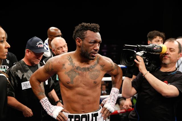 Austin Trout in the ring after his 12-round loss to Jermall Charlo. (Getty Images)