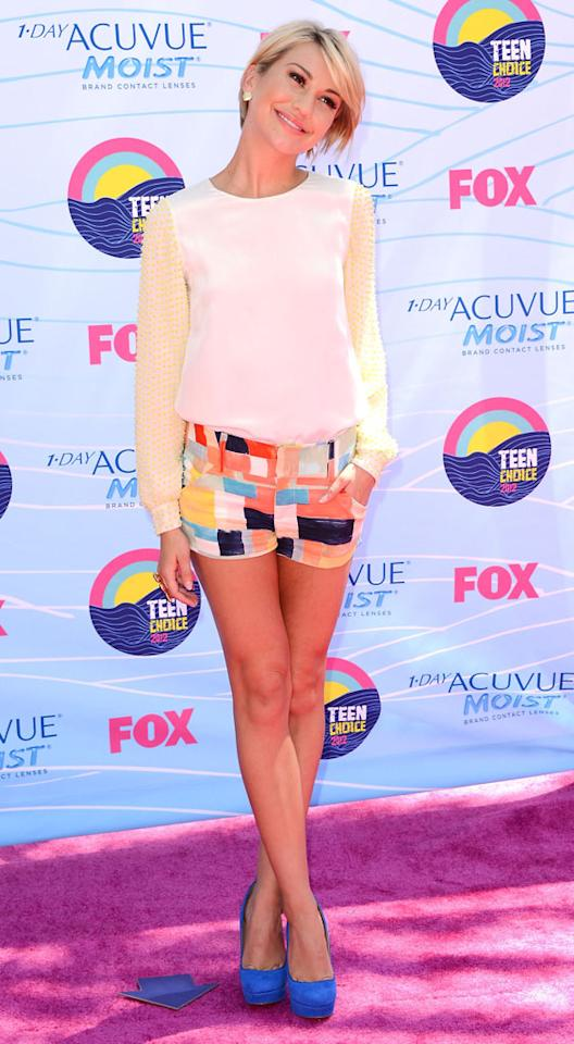 Actress Chelsea Kane arrives at the 2012 Teen Choice Awards at Gibson Amphitheatre on July 22, 2012 in Universal City, California.