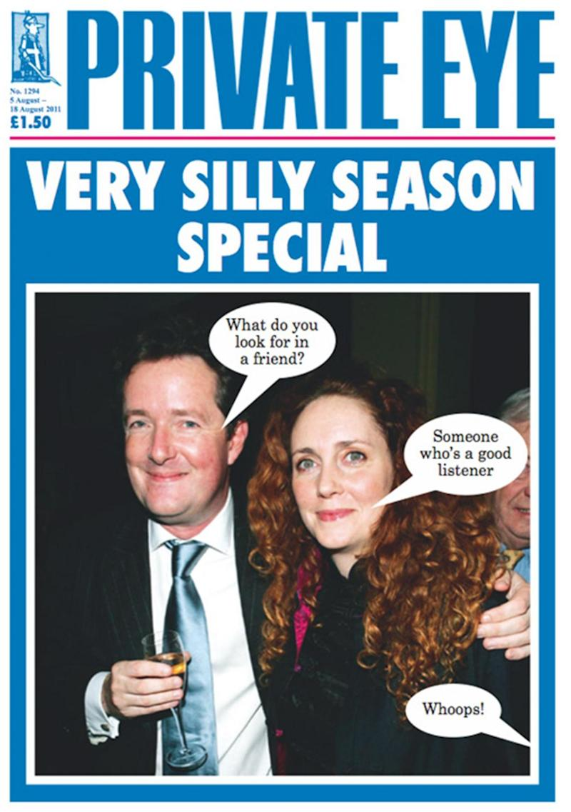 Making a splash: Morgan has long been in a spat with the satirical magazine
