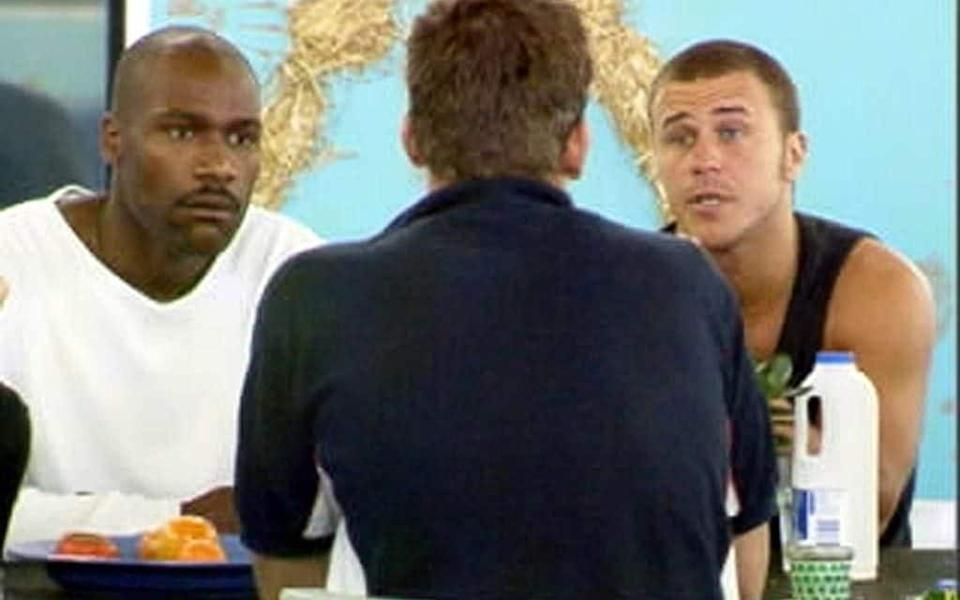 Nick Batemen being confronted shortly before he was removed from the Big Brother house - PA