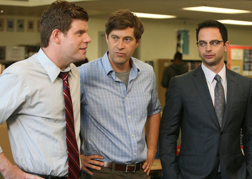 """Stephen Rannazzisi, Mark Duplass and Nick Kroll in """"The League."""""""