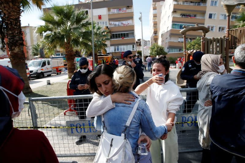 Rescue operations after earthquake in Izmir