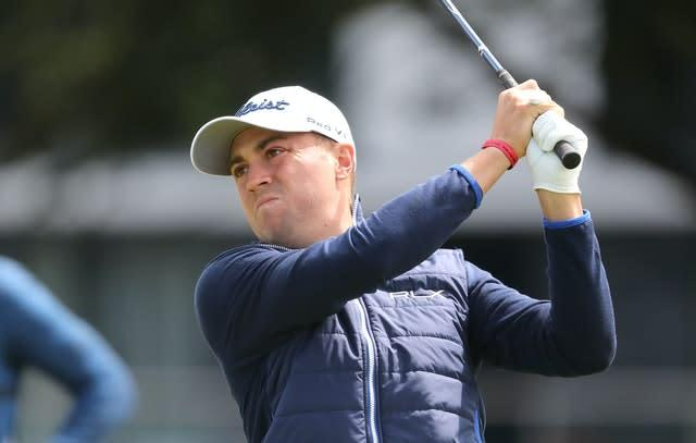 Justin Thomas is adapting to 'the new normal' (Niall Carson/PA)