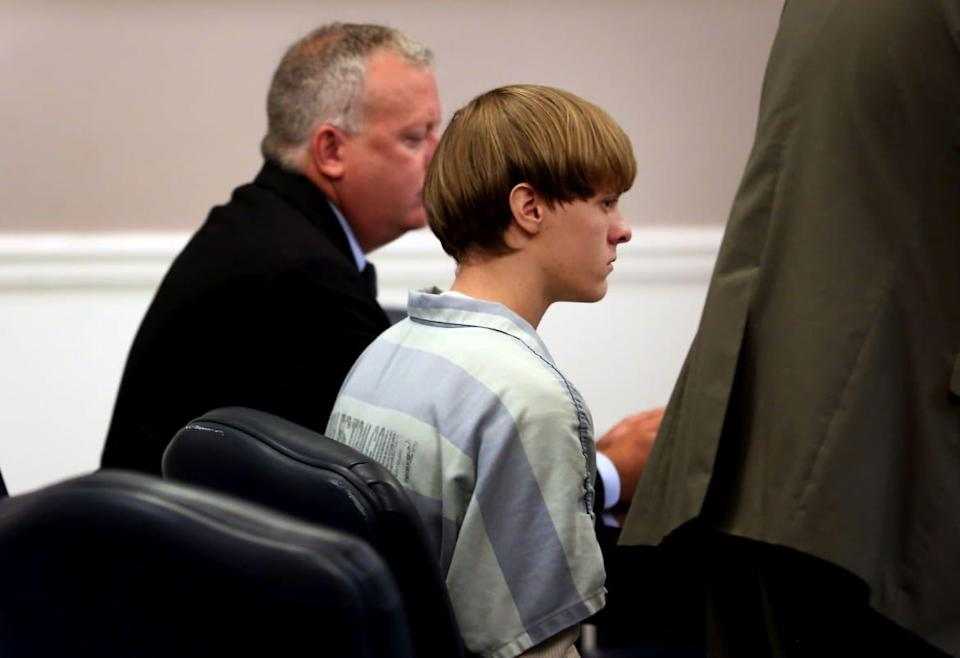"""<div class=""""inline-image__caption""""><p>White supremacist mass murderer Dylann Roof, who may have been radicalized in part by racist propaganda about crime</p></div> <div class=""""inline-image__credit"""">Pool/Getty</div>"""