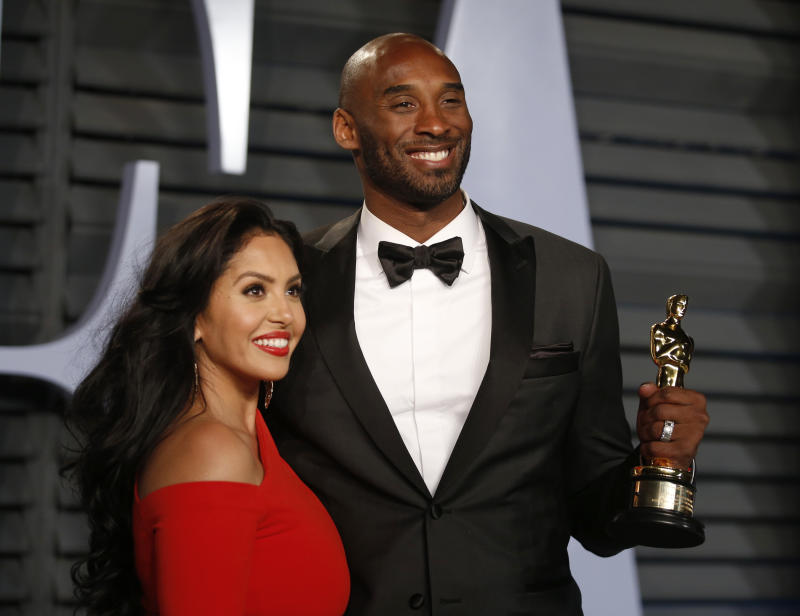 The basketball star (pictured with Vanessa after winning an Oscar in 2018) had a soft spot for Sex and the City. (Photo: REUTERS/Danny Moloshok)