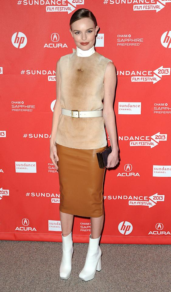 "PARK CITY, UT - JANUARY 23: Actress Kate Bosworth attends the ""A.C.O.D."" Premiere during the 2013 Sundance Film Festival at Eccles Center Theatre on January 23, 2013 in Park City, Utah.  (Photo by C Flanigan/FilmMagic)"