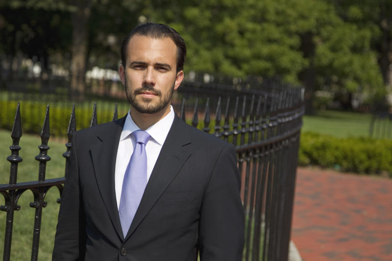 "FILE - In this Sept. 14, 2011 file photo, Felice Gorordo, co-founder of Roots of Hope, is photographed in Lafayette Square near the White House in Washington. Leaders with the largest nonprofit organization for young Cuban-Americans quietly provided strategic support for the federal government's secret ""Cuban Twitter"" program, connecting contractors with potential investors and even serving as paid consultants, The Associated Press has learned. Also, in 2011 Creative Associates officer Xavier Utset approached Gorordo, whom he knew through their mutual interest in Cuba, about spinning off the ZunZuneo project. In an interview with the AP, Gorordo confirmed he'd been asked to help identify donors but did not know there was an agenda behind the program. ""Personally I thought it had merit. It wasn't political. It had the goal of promoting shared information,"" Gorordo said. ""But it was not viable, because it was a government project, and we do not accept U.S. government funding."" (AP Photo/Evan Vucci, File)"