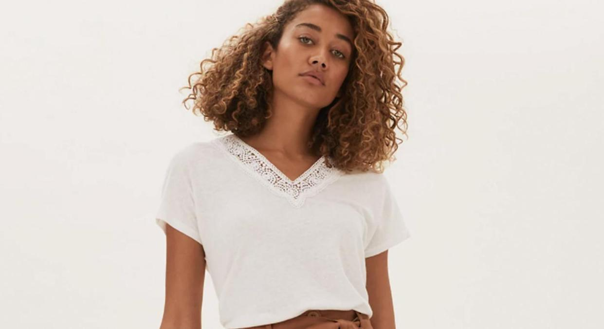Marks and Spencer's Linen T-shirts are the upgrade to the wardrobe staple we all need.  (Marks and Spencer)
