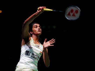 India's PV Sindhu in action during the women's singles quarter-final. Reuters