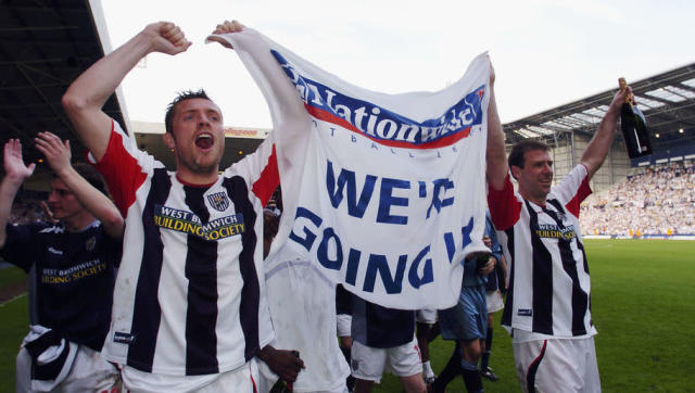 <p>Having briefly tasted Premier League football during the 2002/03 campaign, West Brom ensured their time back in the Football League would be just as fleeting and secured an immediate promotion in April 2004.</p> <br><p>Relegation followed again in 2006, with another promotion in 2008, fully earning the Baggies a yo-yo reputation. Relegated in 2009, the club bounced back immediately for the second time in 2010 when they finished second in the Championship behind Newcastle.</p>