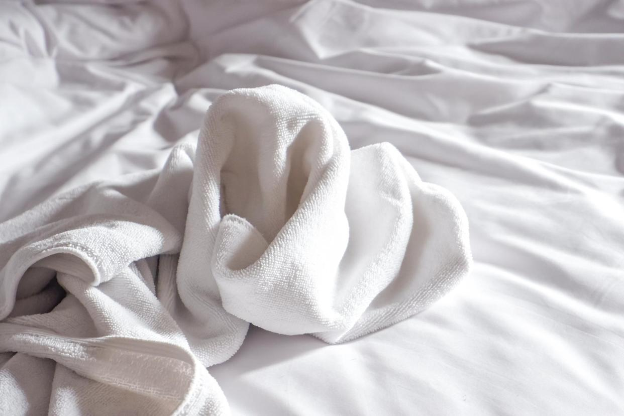 Leaving wet towels on the bed can lead to mould. (Getty Images)