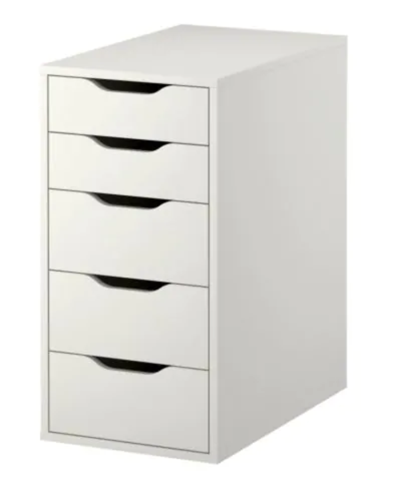 """<p>Sure you could leave this ALEX drawer unit as you bought it, but why do that when you can spice up your office?</p><p><strong><a class=""""link rapid-noclick-resp"""" href=""""https://go.redirectingat.com?id=74968X1596630&url=https%3A%2F%2Fwww.ikea.com%2Fus%2Fen%2Fcatalog%2Fproducts%2F40410340%2F%23%2F10192824&sref=https%3A%2F%2Fwww.bestproducts.com%2Fhome%2Fg29514474%2Fbest-ikea-hacks%2F"""" rel=""""nofollow noopener"""" target=""""_blank"""" data-ylk=""""slk:BUY NOW"""">BUY NOW</a> <em>ALEX Drawer Unit,</em> </strong><em><strong>$89, ikea.com</strong></em></p>"""