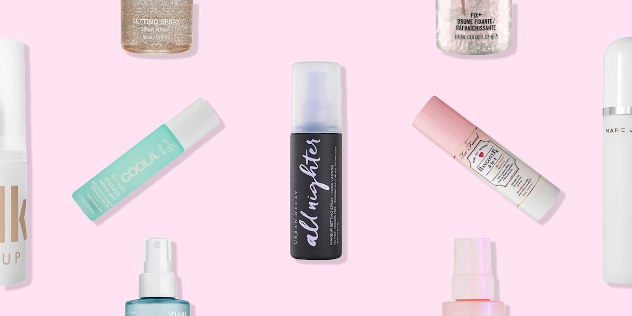 """<p>Setting sprays have come a very long way in the past few years, with the alcohol-laden spritzes of old being replaced by some formidable, skin-kind formulas. </p><p>And they're not just for the <a href=""""https://www.elle.com/uk/beauty/skin/a37721/how-to-get-rid-oily-skin/"""" target=""""_blank"""">oily-skinned</a>, either (although if your <a href=""""https://www.elle.com/uk/beauty/make-up/g7851/elle-beauty-edit-full-coverage-foundations-for-winter/"""" target=""""_blank"""">foundation</a> slides off your face before lunchtime, they're an absolute no brainer). Now, there's a make-up setting spray to make dry skin look dewy, one to protect from pollution, and even one infused with broad-spectrum SPF protection. </p><p>According to Danielle Roberts, Global Make-up Artist for <a href=""""https://www.urbandecay.co.uk/"""" target=""""_blank"""">Urban Decay</a>, the key to setting-spray success is all in the application. 'Always apply the mist in a """"T"""" motion through the centre of the face and an """"X"""" to hit the outer perimeters,' she says.</p><p> And that's not all your setting spray is good for, either. 'Try spritzing your flat shadow brush with a little setting spray to pick up and lay down a more foiled effect with high-shimmer shadows,' she adds. Who knew!</p><p>Here, see the setting sprays you'll find in team ELLE's beauty bags... </p>"""