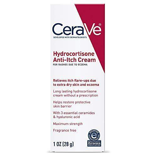 """<p><strong>CeraVe</strong></p><p>amazon.com</p><p><strong>$8.49</strong></p><p><a href=""""https://www.amazon.com/dp/B00Y7QTD8I?tag=syn-yahoo-20&ascsubtag=%5Bartid%7C2139.g.32905087%5Bsrc%7Cyahoo-us"""" rel=""""nofollow noopener"""" target=""""_blank"""" data-ylk=""""slk:Shop Now"""" class=""""link rapid-noclick-resp"""">Shop Now</a></p><p>Hydrocortisone cream is helpful for particularly uncomfortable areas because it reduces itching common with sunburns. </p>"""