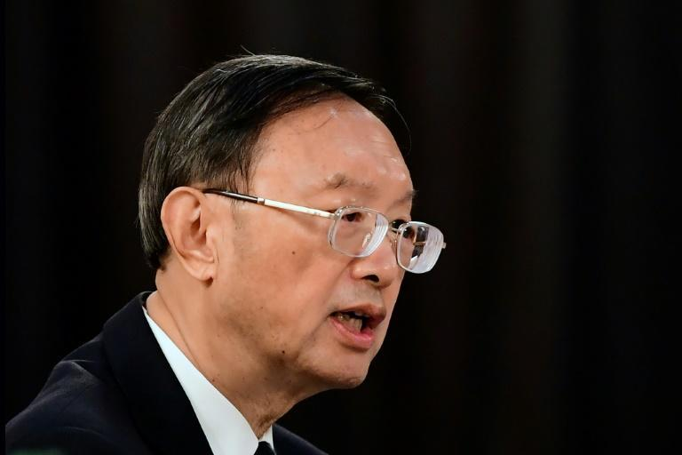 China's top diplomat Yang Jiechi, seen here in March 2021, will meet in Zurich with the US national secrity advisor (AFP/Frederic J. BROWN)
