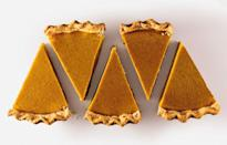 """Look no further for the quintessential pumpkin pie. It's grandma's recipe, and she hasn't changed it since 1947. <a href=""""https://www.bonappetit.com/recipe/grandma-s-pumpkin-pie?mbid=synd_yahoo_rss"""" rel=""""nofollow noopener"""" target=""""_blank"""" data-ylk=""""slk:See recipe."""" class=""""link rapid-noclick-resp"""">See recipe.</a>"""