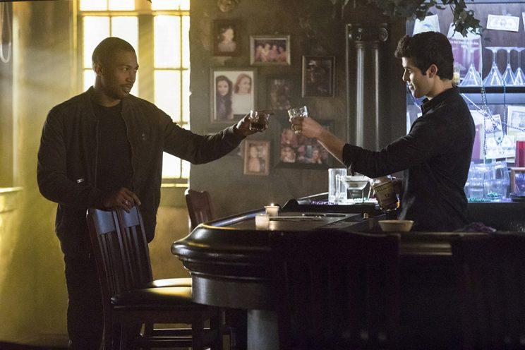 Charles Michael Davis as Marcel and Steven Krueger as Josh in The CW's The Originals. (Photo Credit: Bob Mahoney/The CW)