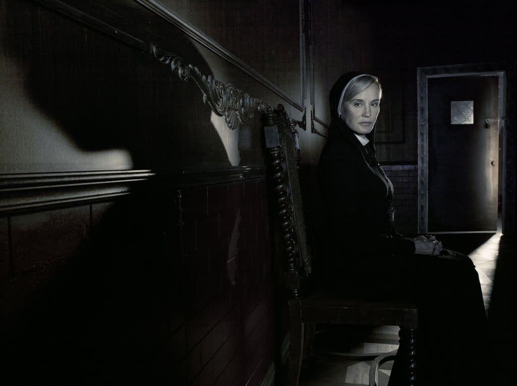 "Jessica Lange as Sister Jude in ""American Horror Story: Asylum"" on FX."
