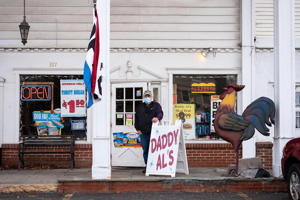 Al Dick, 73, is the owner of Daddy Al's General Store in Oneonta. The 2020 Rockefeller Center Christmas tree, a 75-foot-tall Norway spruce, came from Dick's front yard at his home in Oneonta.