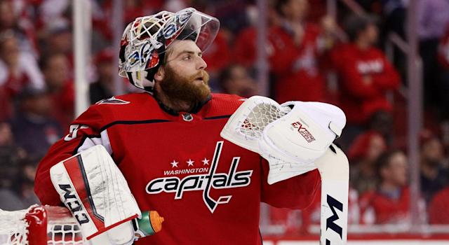 Braden Holtby, unimpressed. (Getty)