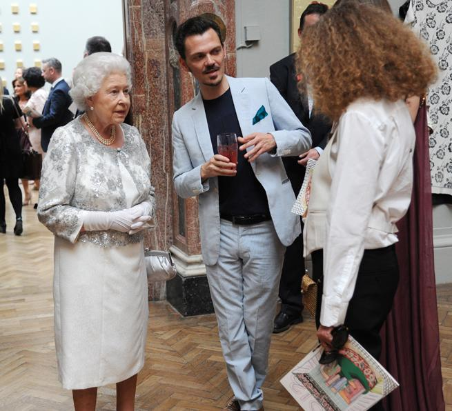Queen Elizabeth II with Matthew Williamson A Celebration of the Arts at the Royal Academy of Arts, London, Britain - 23 May 2012