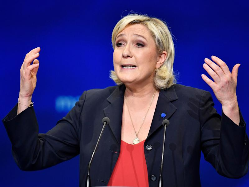 Marine Le Pen's support was meant to surge in Sunday's vote, but she came second against the centrist Emmanuel Macron: Getty