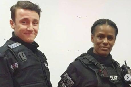 Sherise Blackman (pictured right with Gregory Piper as Ryan Pilkington), who acted as cop Ruby JonesInstagram/Sherise Blackman