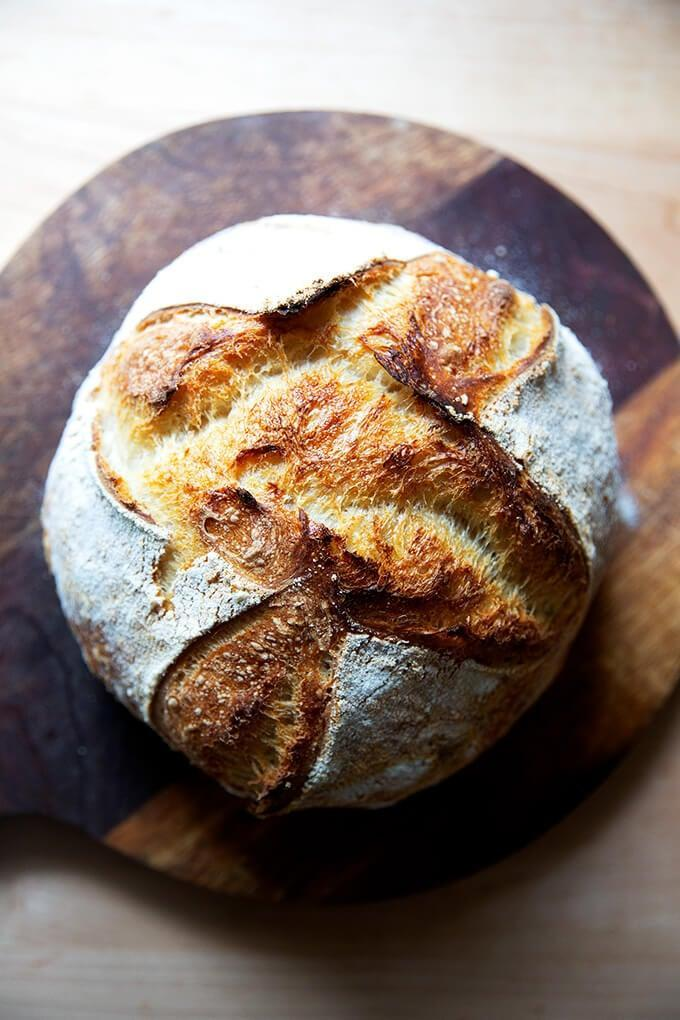 "<p>Baking bread is a quarantine cooking staple and we all know this to be true. This sourdough recipe is as good as it gets, so don't be afraid to make a couple batches.</p> <p><strong>Get the recipe</strong>: <a href=""https://alexandracooks.com/2019/11/07/easy-whole-wheat-ish-sourdough-bread/"" class=""link rapid-noclick-resp"" rel=""nofollow noopener"" target=""_blank"" data-ylk=""slk:sourdough bread"">sourdough bread</a></p>"