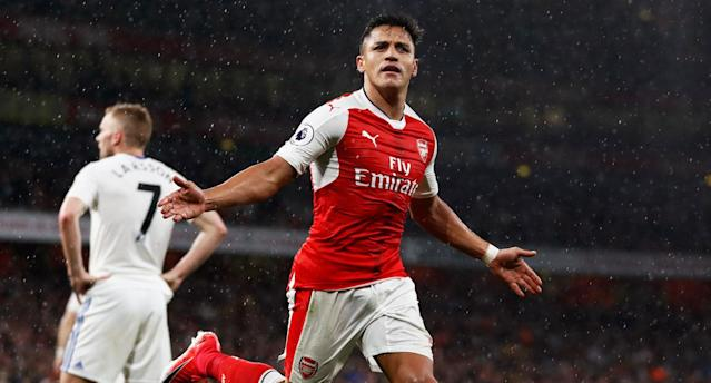 Sanchez allowed Arsenal to live another day in the Premier League top-four race. (Reuters)