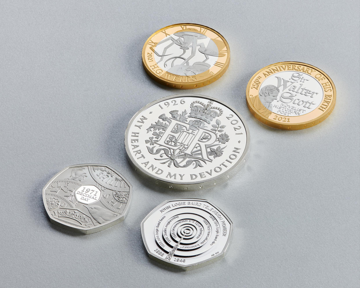 The 2021 collection of coins from the Royal Mint