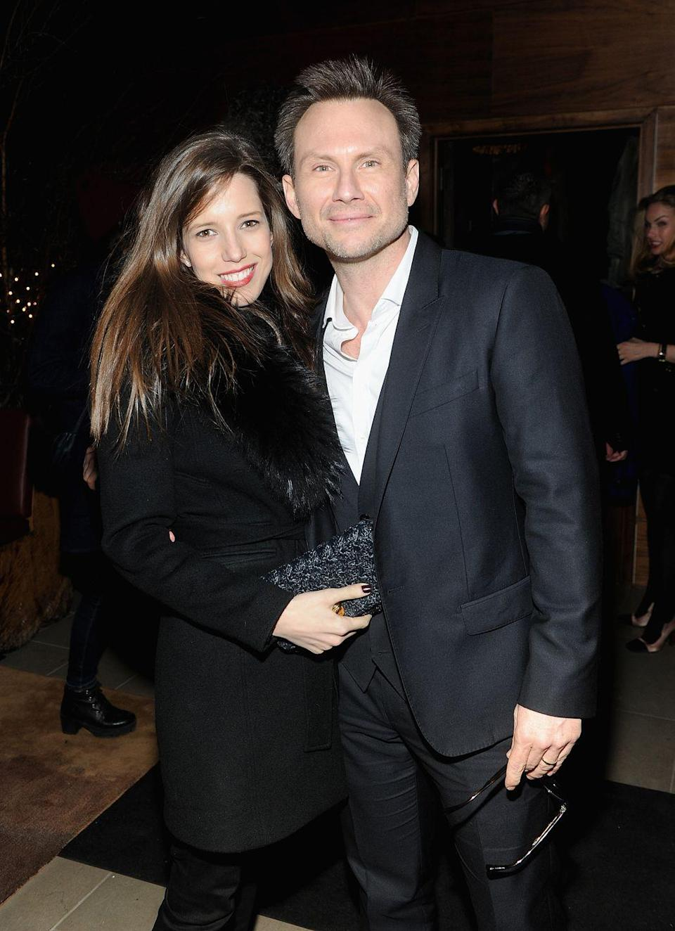 <p><strong>Age gap: </strong>18 years </p><p>After meeting on Florida's Little Palm Island, Christian Slater and his wife, Brittany Lopez, tied the knot in a spontaneous ceremony at the Miami Courthouse in 2013 after a few years of dating. The couple was just getting their marriage certificate, and reportedly decided they couldn't wait any longer to make it official.</p>
