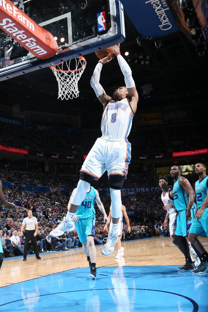 Westbrook leads Thunder to win over Hornets