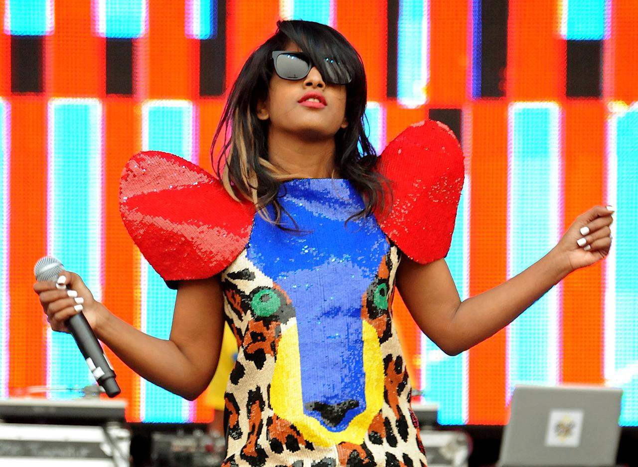 """M.I.A. The English performer's real name is Mathangi """"Maya"""" Arulpragasam. M.I.A. plays on her name and the abbreviation for """"missing in action."""" M.I.A. performed at last year's Super Bowl (and was reprimanded by Madonna for flipping off cameras during the halftime show)."""