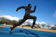 Akoon Akoon from South Sudan attends his training session in preparation for the Tokyo 2020 Olympic Games amid the coronavirus disease (COVID-19) outbreak, in Maebashi
