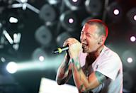 """<p>The music world mourned the death of the Linkin Park rocker, who had been open about his struggles with addiction and depression and who died of suicide by hanging at 41. His <a rel=""""nofollow"""" href=""""https://www.yahoo.com/entertainment/chester-bennington-linkin-park-singer-184442552.html"""" data-ylk=""""slk:July 20 death;outcm:mb_qualified_link;_E:mb_qualified_link;ct:story;"""" class=""""link rapid-noclick-resp yahoo-link"""">July 20 death</a> fell on the birthday of Bennington's late friend Chris Cornell, who had died two months earlier. (Photo: Getty Images) </p>"""