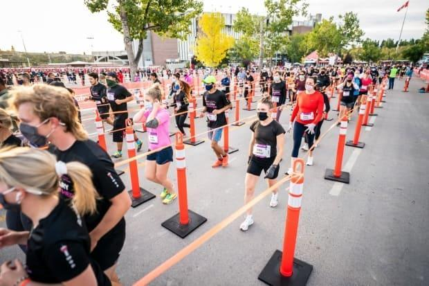 Run Calgary took advice from other race organizations across the country.  (Supplied Calgary Marathon - image credit)