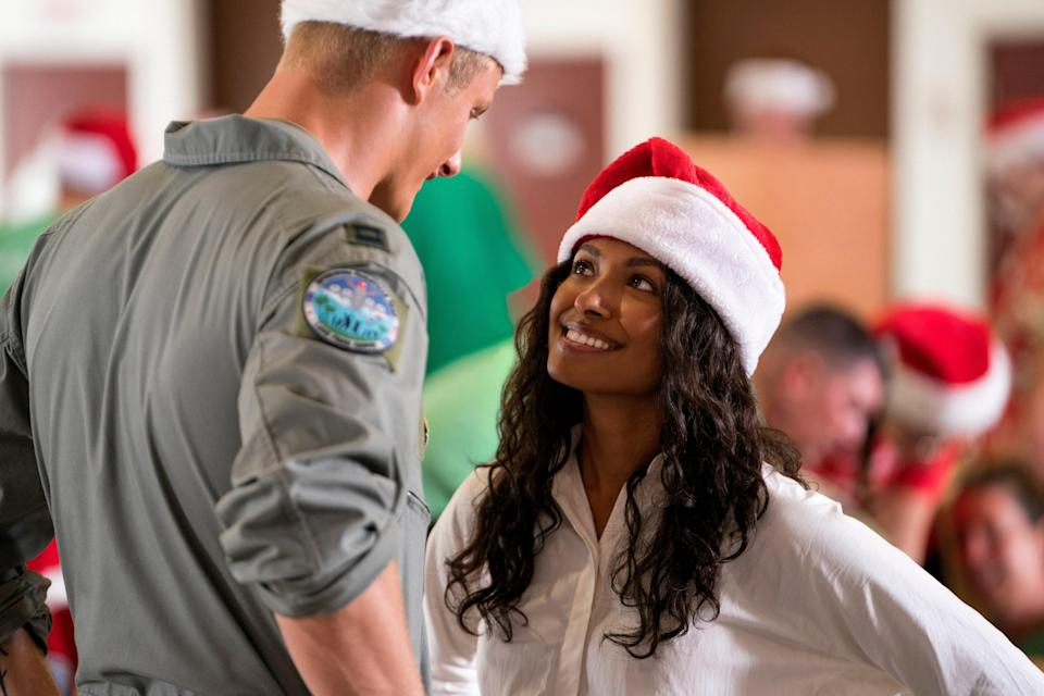 A Christmas romance with a political twist. A congressional aide (Kat Graham) finds herself falling for the captain of a U.S. Air Force base (Alexander Ludwig)…that she just so happens to be trying to shut down.