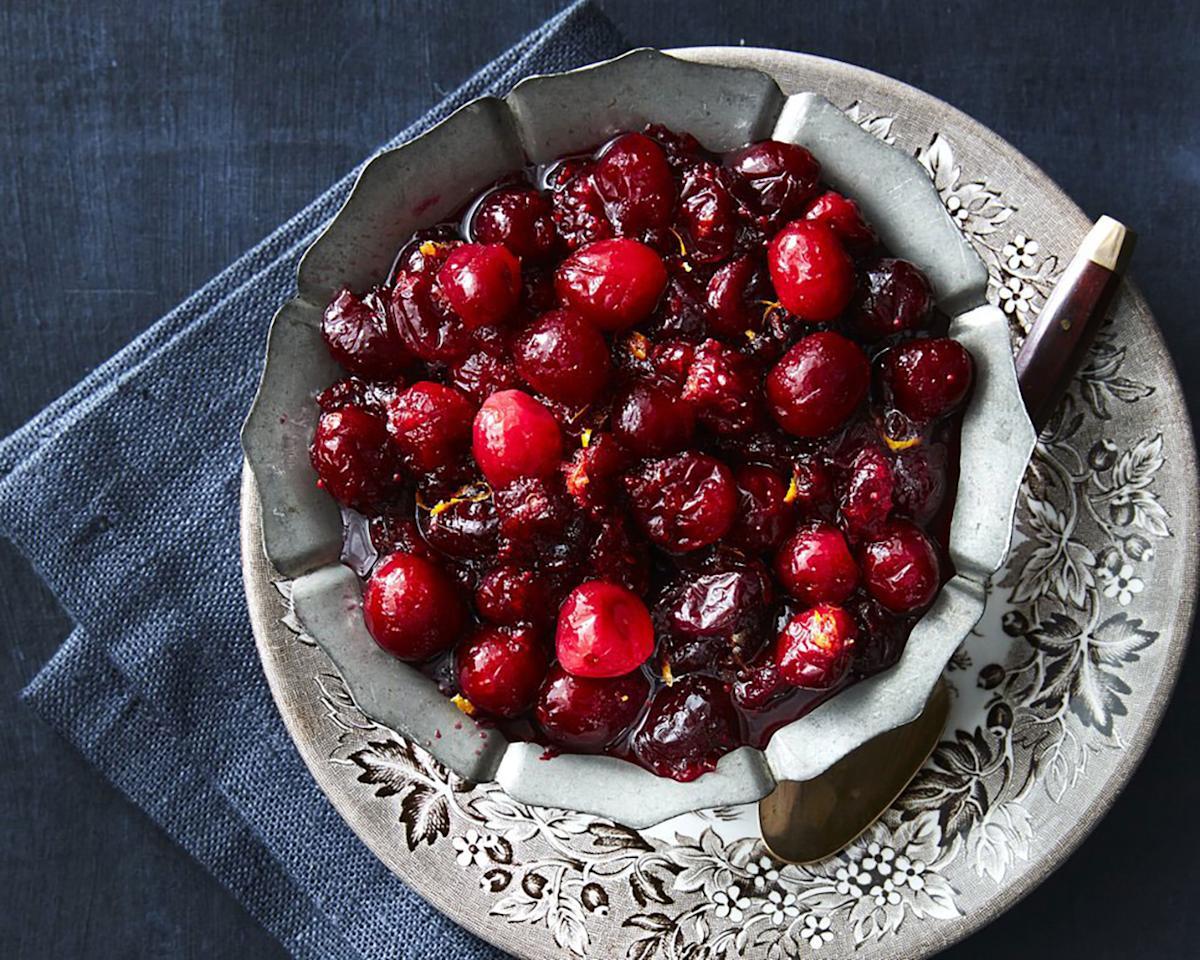 """<p>Nothing on your Thanksgiving menu is easier than cranberry sauce, whether you keep it classic or spice it up.</p><p><strong>Recipe: </strong><a rel=""""nofollow"""" href=""""https://ec.yimg.com/ec?url=http%3a%2f%2fwww.myrecipes.com%2frecipe%2fpure-simple-cranberry-sauce%26quot%3b%26gt%3bPure&t=1506285846&sig=FNFsRGFOfl6rBgeK7RShew--~D and Simple Cranberry Sauce</a></p>"""