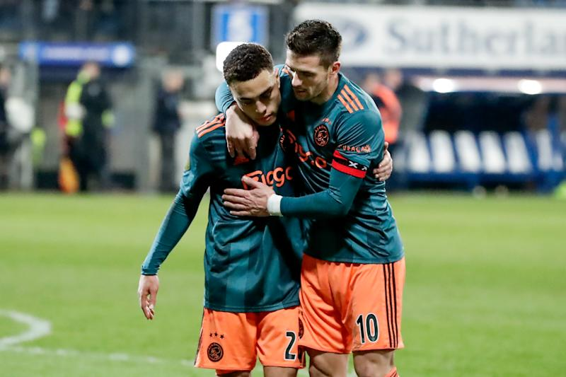 Despite topping the Dutch Eredivisie when the Covid-19 pandemic stopped the season, Ajax will not be awarded the 2019-20 title. What could that mean for Premier League leaders Liverpool? (Angelo Blankespoor/Getty)
