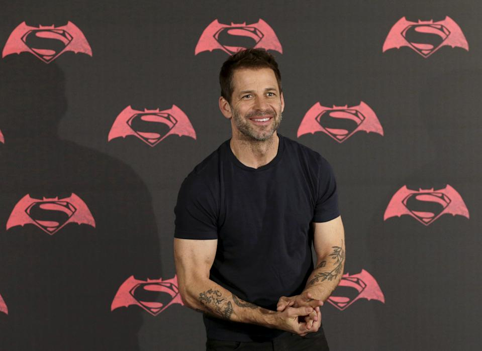 """Director Zack Snyder poses during a photocall to promote the movie """"Batman v Superman: Dawn Of Justice"""" in Mexico City, Mexico, March 19, 2016. REUTERS/Henry Romero"""
