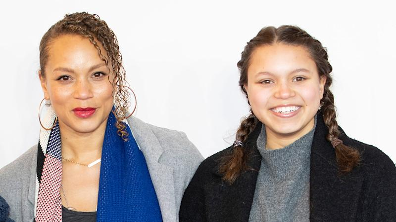 Angela Griffin has enlisted the help of her eldest daughter Tallulah while filming a drama in lockdown