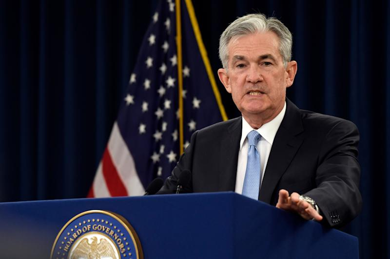 Federal Reserve Chairman Jerome Powell speaks during a press conference in Washington, Wednesday, March 20, 2019. (AP Photo / Susan Walsh)
