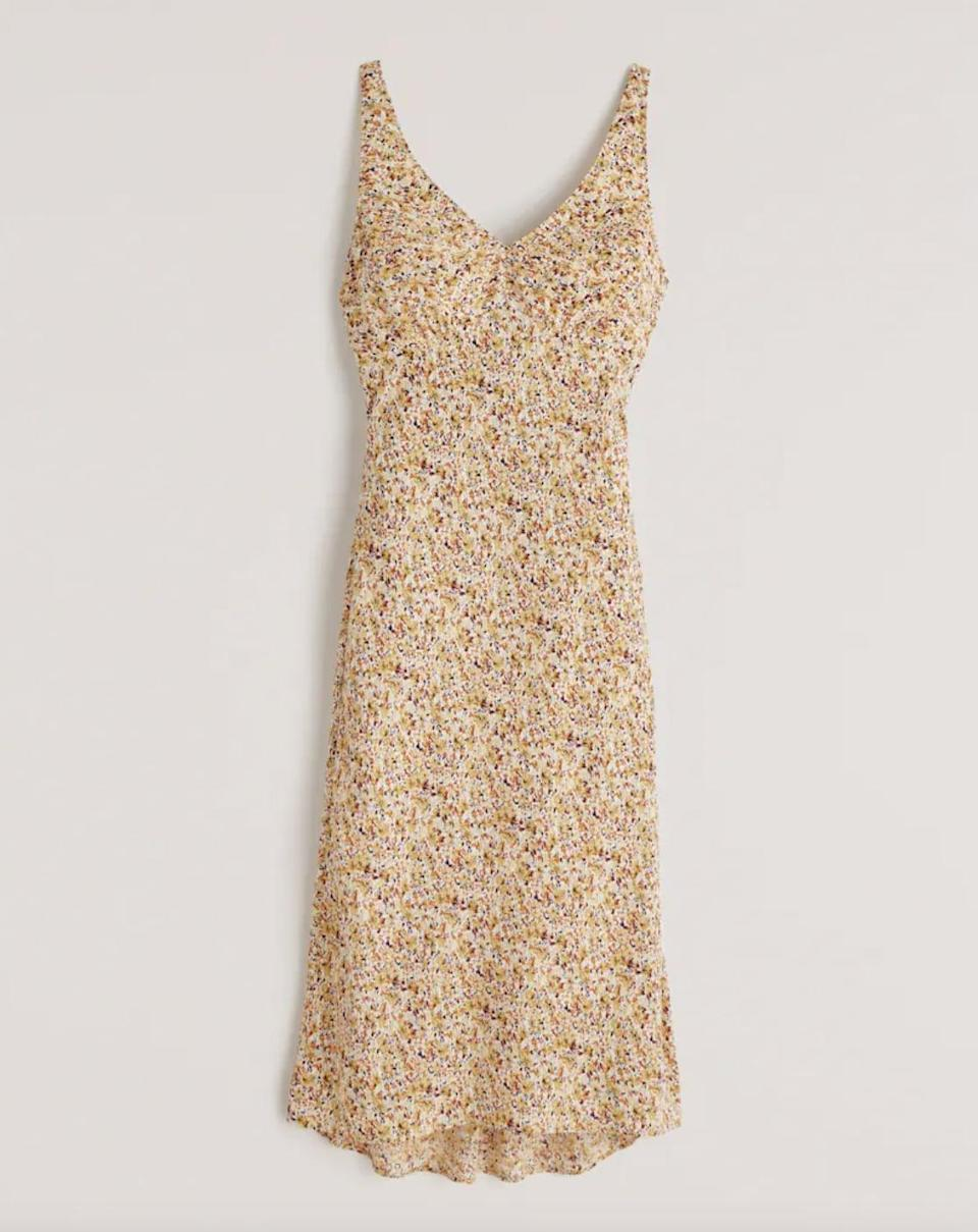 <p>Have a brunch coming up? This chic <span>Abercrombie &amp; Fitch Faux Silk Slip Midi Dress</span> ($89) will get you tons of compliments.</p>