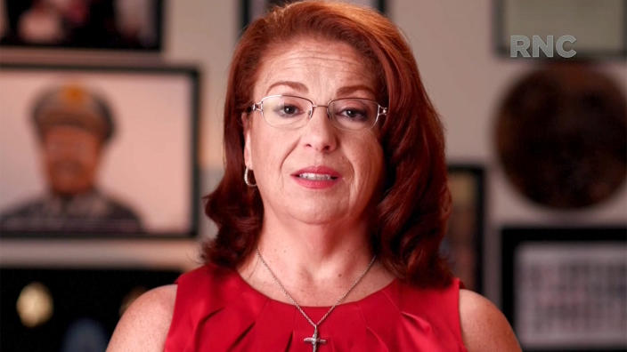 Ann Dorn speaks during the Republican National Convention on Thursday. (via Reuters TV)
