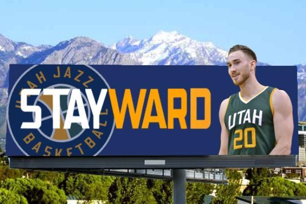 "The proposed ""Stayward"" billboard. (Image via Gofundme.com/utahjazz6man)"