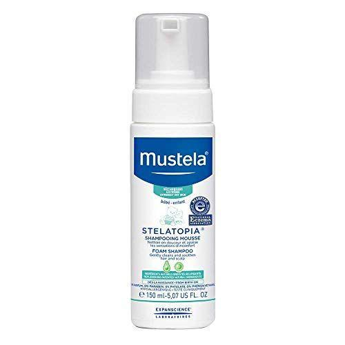 """<p><strong>Mustela</strong></p><p>amazon.com</p><p><strong>$15.50</strong></p><p><a href=""""https://www.amazon.com/dp/B076BVMM2P?tag=syn-yahoo-20&ascsubtag=%5Bartid%7C2139.g.35918295%5Bsrc%7Cyahoo-us"""" rel=""""nofollow noopener"""" target=""""_blank"""" data-ylk=""""slk:BUY IT HERE"""" class=""""link rapid-noclick-resp"""">BUY IT HERE</a></p><p>Mustela's Stelatopia Foam Shampoo is actually designed for use on newborn babies, so you know it's formulated with gentle ingredients. This one is great for eczema-prone skin and will help ease your urge to itch.</p>"""