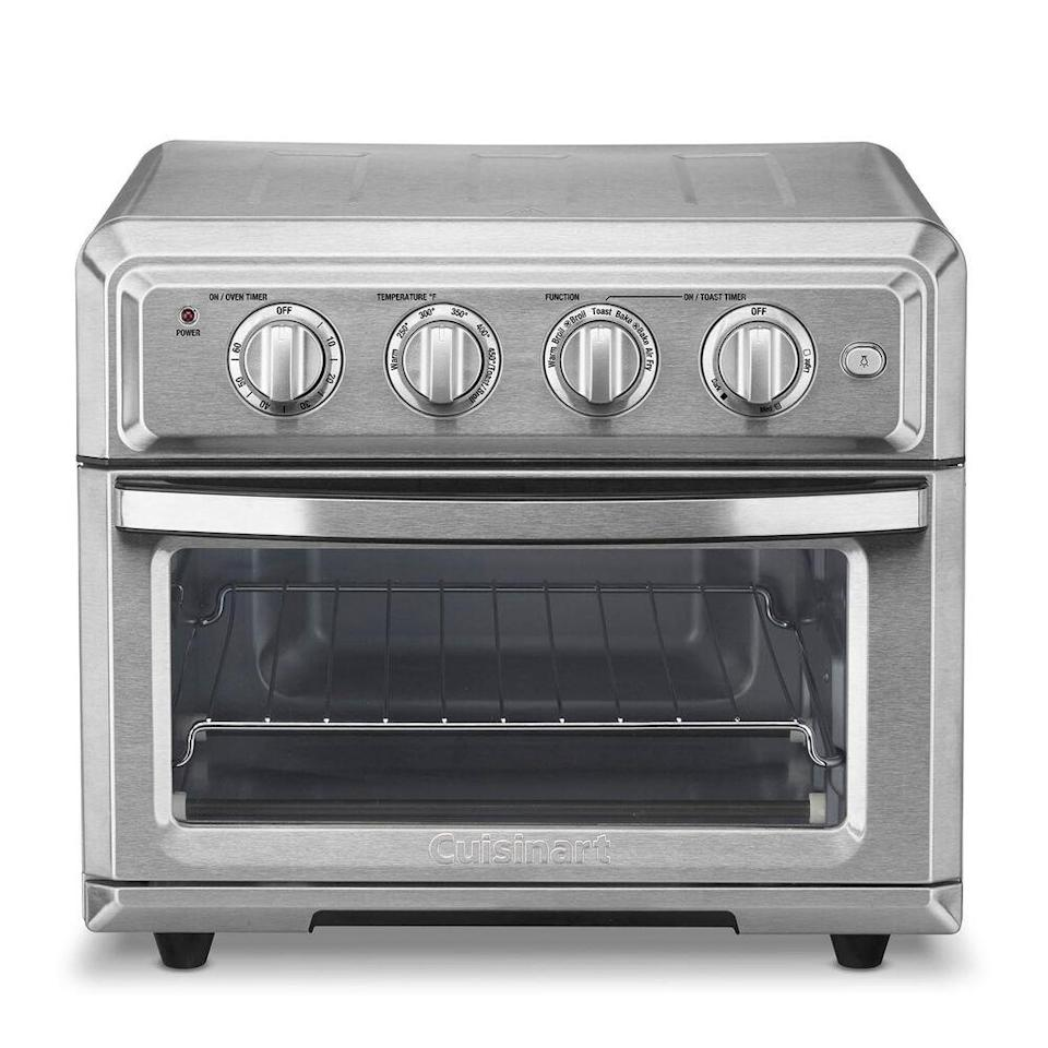 "<em>*An </em><strong><em>extra 20% off</em></strong><em> with code </em><strong><em>TART</em></strong><em> at checkout.</em><br><br><strong>Cuisinart</strong> AIR FRYER TOASTER OVEN, $, available at <a href=""https://go.skimresources.com/?id=30283X879131&url=https%3A%2F%2Fwww.surlatable.com%2Fcuisinart-ary-fryer-toaster-oven%2FPRO-3084829.html"" rel=""nofollow noopener"" target=""_blank"" data-ylk=""slk:Sur La Table"" class=""link rapid-noclick-resp"">Sur La Table</a>"